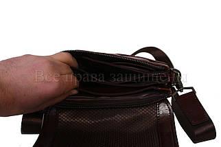 Чоловіча шкіряна сумка коричневий (Формат: більше А5) NAVI-BAGS NV-0801-brown, фото 3