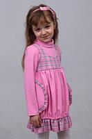 Платье  детское  М -822 с длинным рукавом рост 128 134