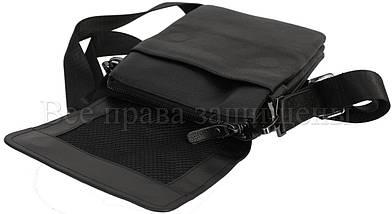 Мужская кожаная сумка через плечо черный (Формат: меньше А5) NAVI-BAGS NV-2008-black, фото 3