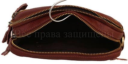 Мужская кожаная сумка через плечо коричневый (Формат: А5) NAVI-BAGS 0808-brown, фото 2