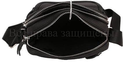 Чоловіча шкіряна сумка чорний (Формат: менше А5) NAVI-BAGS 0809-black, фото 3