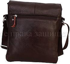 Мужская кожаная сумка через плечо коричневый (Формат: больше А5) NAVI-BAGS 0816-brown, фото 2