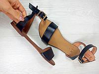 Женские Модные босоножки на плоской подошве из натуральной кожи , фото 1