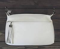 Женский белый клатч через плечо, фото 1