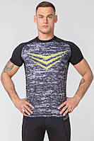 Спортивная мужская футболка Radical Rashguard Smite (Польша) с коротким рукавом, дышащая, быстросохнущая