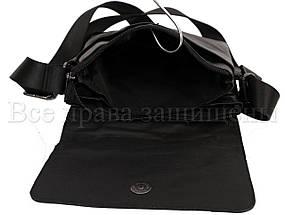 Мужская кожаная сумка через плечо черный (Формат: больше А5) NAVI-BAGS NV-1013-black, фото 2