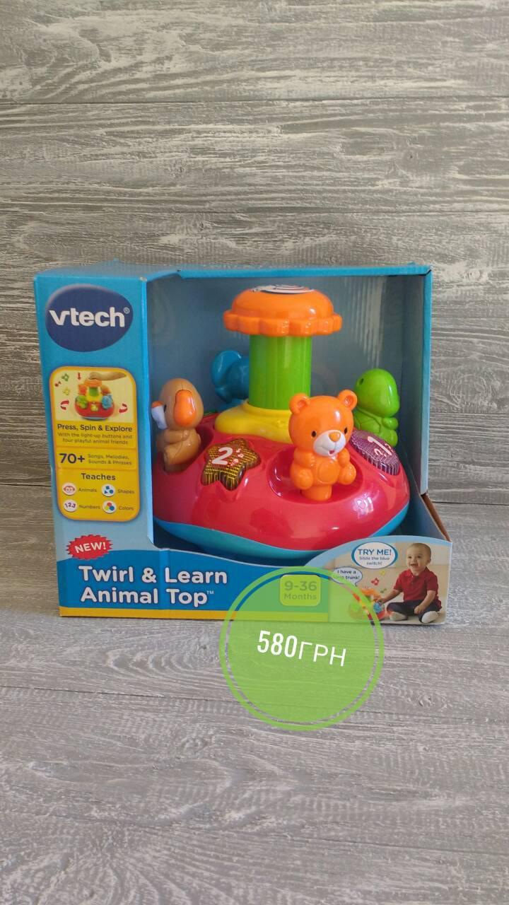 VTech музыкальная Юла карусель Twirl & Learn Animal Top