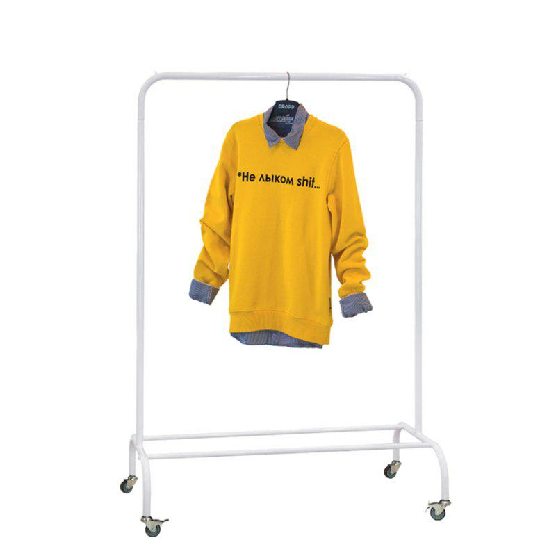 Стойка для одежды на колесиках Лофт 1Б пром белая (металл)