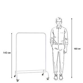 Стойка для одежды на колесиках Лофт 1Б пром белая (металл), фото 2