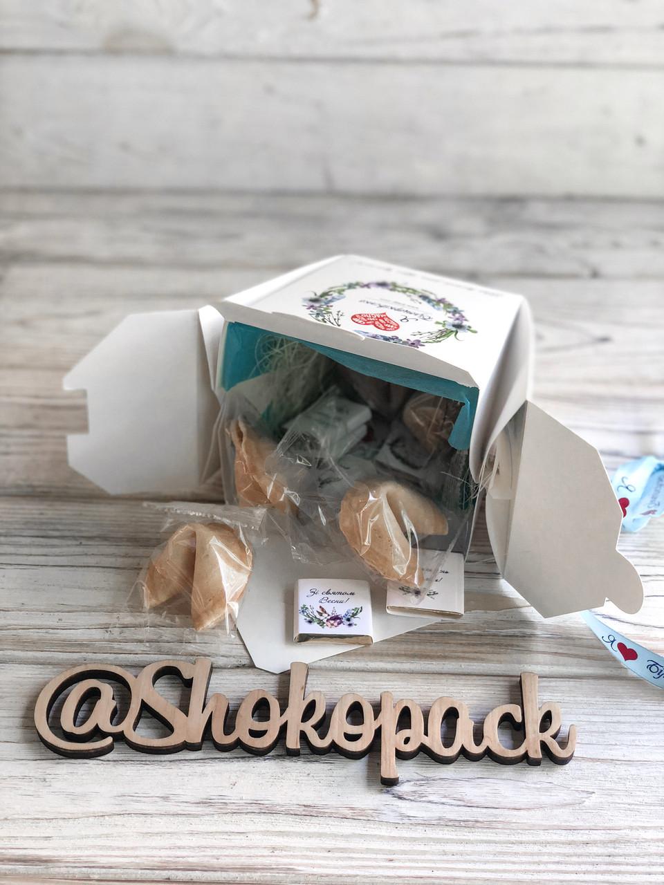 Шоколадный набор + печенье с лого ''ШокоКуб'' Корпоративные подарки, Подарки с логотипом, Сувенир с лого
