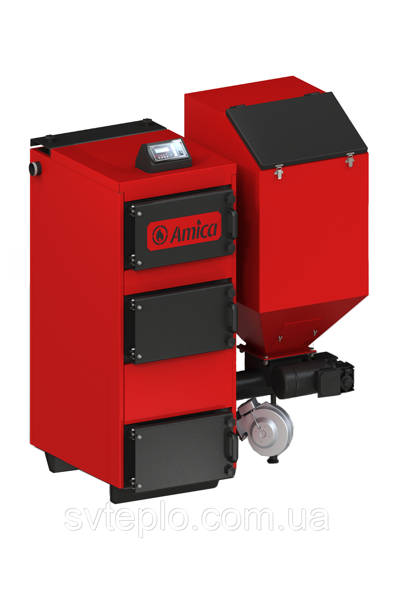 Твердотопливный котел длительного горения Amica Green ECO 75 кВт