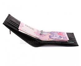 Мужской кожаный кошелек черный MD-leather MD-555-10, фото 3