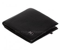 Мужской кожаный кошелек черный MD-leather MD-555-10, фото 2