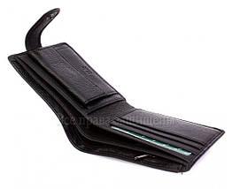 Мужской кожаный кошелек черный MD-leather MD-22-203, фото 3