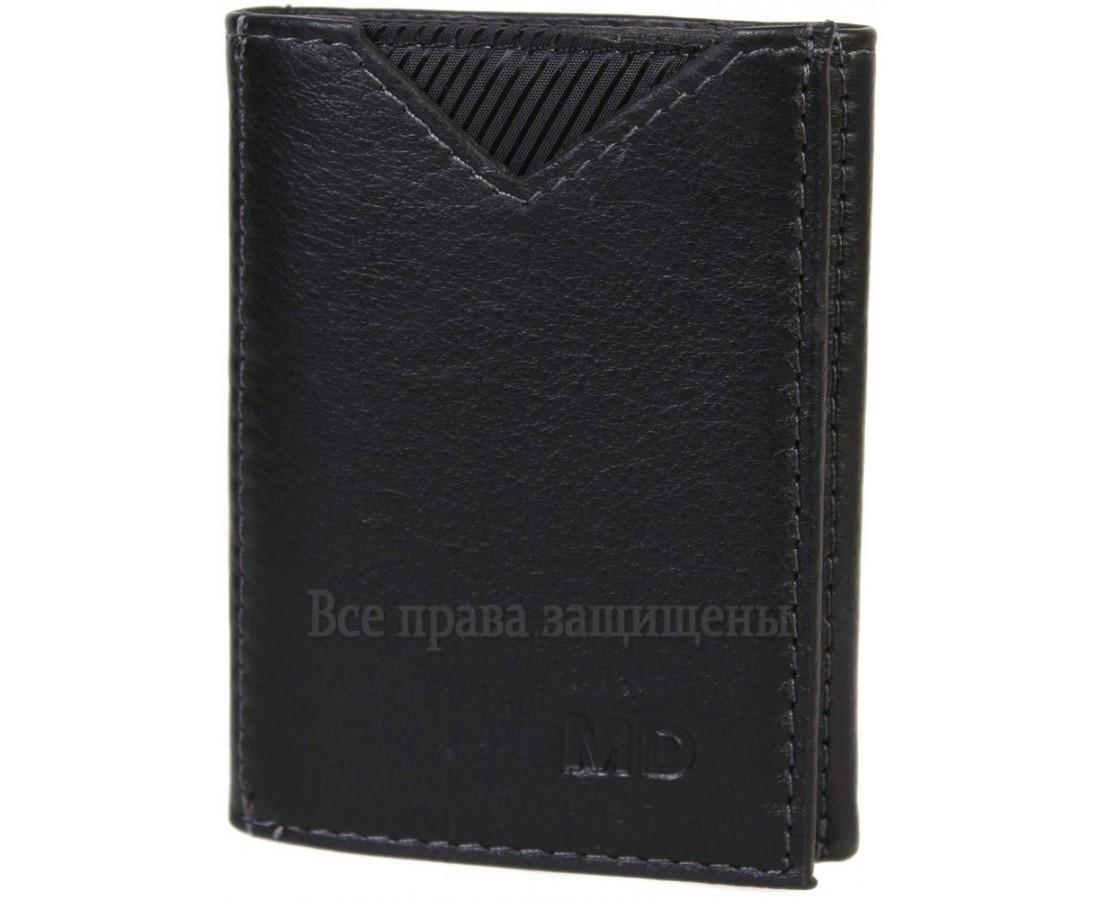 Мужской кожаный кошелек черный MD-leather MD-22-610-A