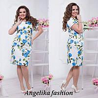 Нарядное женское легкое платье в размерах 48-54