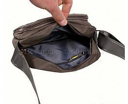 Мужская сумка через плечо ткань серый (Формат: больше А5) NAVI 242-2 GREY, фото 2