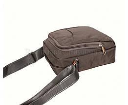 Мужская сумка через плечо ткань серый (Формат: больше А5) NAVI 242-2 GREY, фото 3