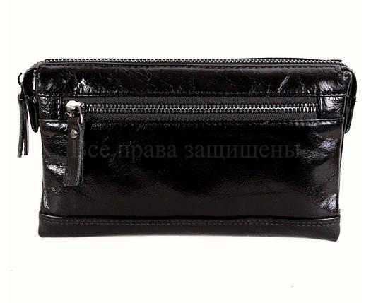Кожаный клатч мужской черный NAVI 005-1 black, фото 2