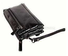 Кожаный клатч мужской черный NAVI 005-1 black, фото 3