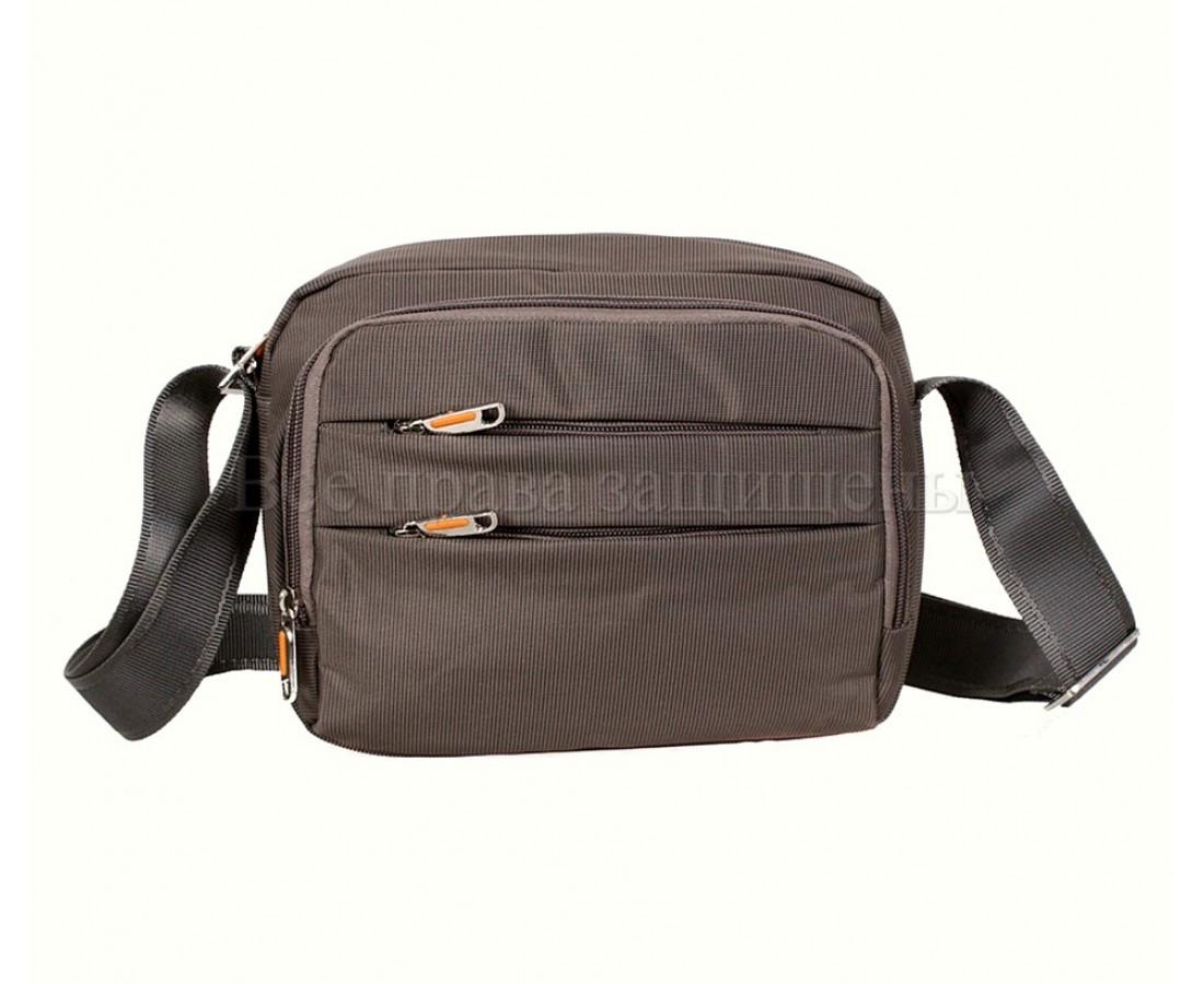 Мужская сумка через плечо ткань серый (Формат: больше А5) NAVI 6338-2 GREY