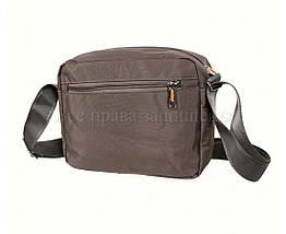 Мужская сумка через плечо ткань серый (Формат: больше А5) NAVI 6338-2 GREY, фото 2