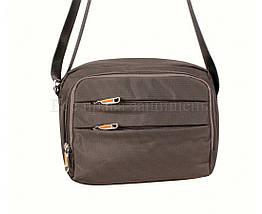 Мужская сумка через плечо ткань серый (Формат: больше А5) NAVI 6338-2 GREY, фото 3