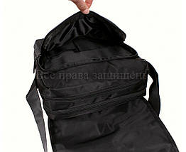 Мужская сумка через плечо ткань черный (Формат: А4 и больше) NAVI 8311A, фото 3