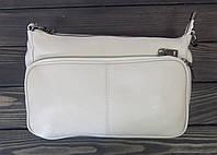 Бежевая сумка барсетка через плечо женская, фото 1