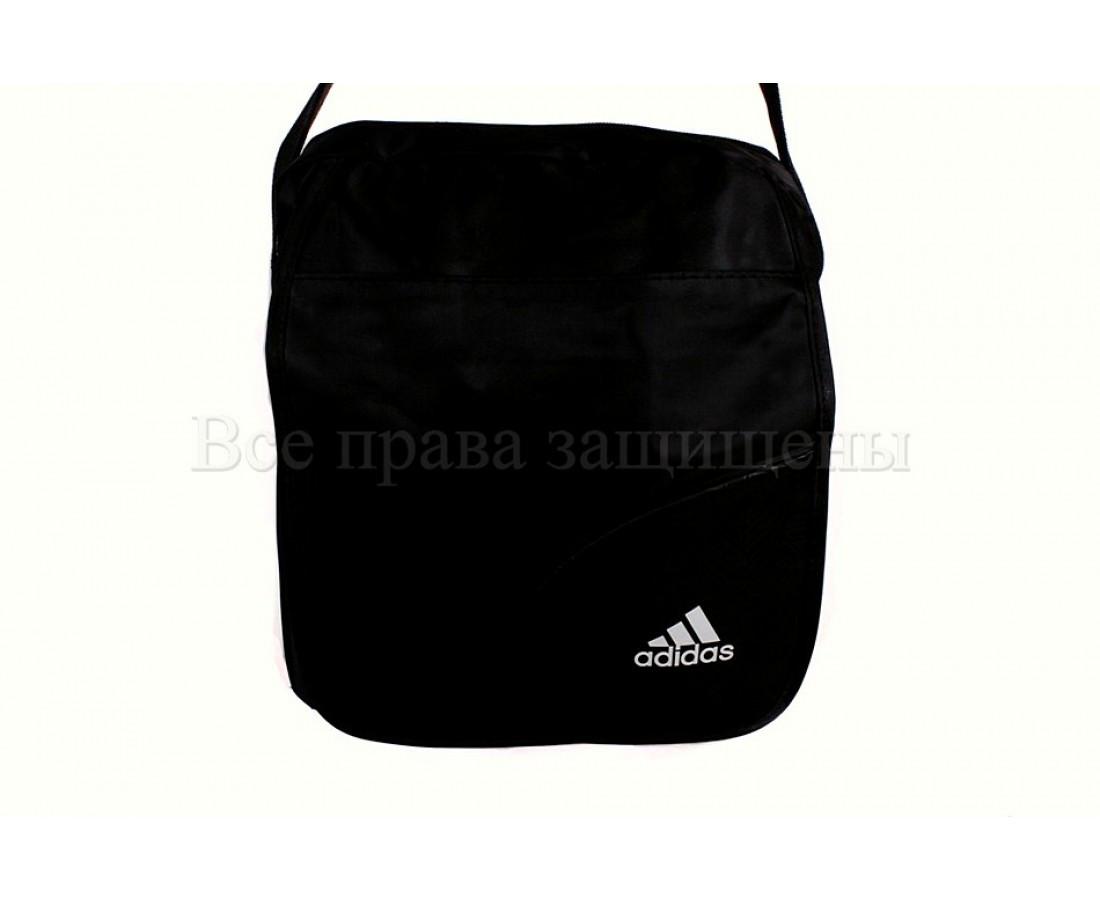 Мужская сумка через плечо ткань черный (Формат: больше А5) NAVI кт1903