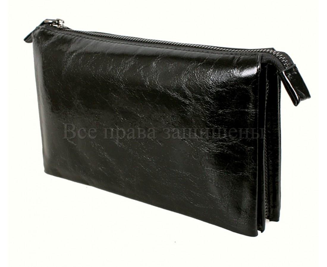 Кожаный клатч мужской черный NAVI 006-1 black