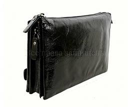 Кожаный клатч мужской черный NAVI 006-1 black, фото 3