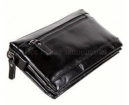 Кожаный клатч мужской черный NAVI 005-2 black, фото 2