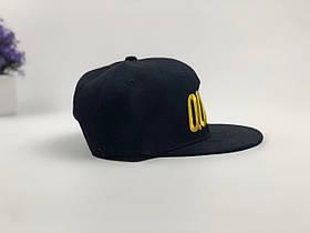 Кепка снэпбек Queen черная, золотой лого, фото 3