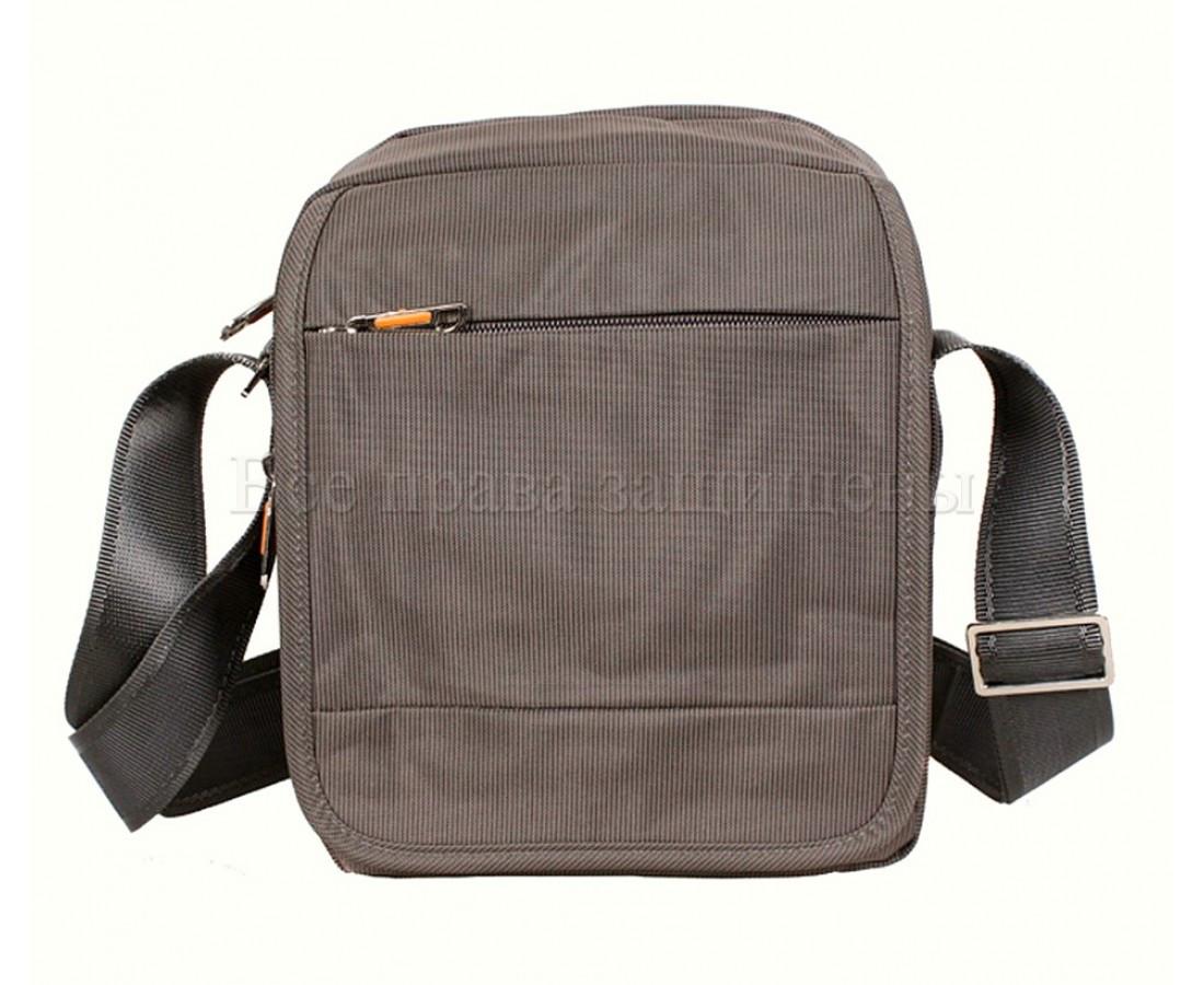 Мужская сумка через плечо ткань серый (Формат: больше А5) NAVI 231-2GREY