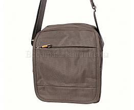 Мужская сумка через плечо ткань серый (Формат: больше А5) NAVI 231-2GREY, фото 3