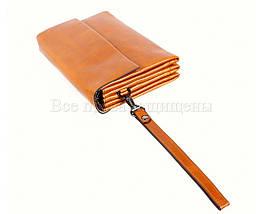 Кожаный клатч мужской коричневый NAVI 004-5 wheat, фото 3