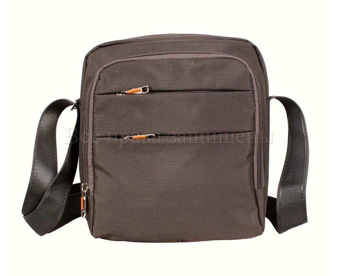 Мужская сумка через плечо ткань серый (Формат: больше А5) NAVI 6339-3 grey