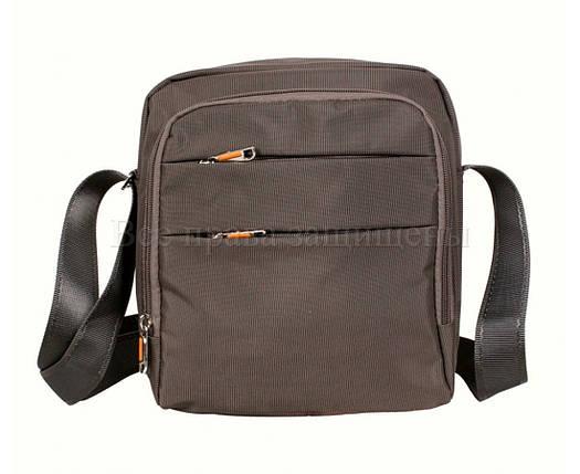 Мужская сумка через плечо ткань серый (Формат: больше А5) NAVI 6339-3 grey, фото 2
