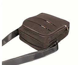 Мужская сумка через плечо ткань серый (Формат: больше А5) NAVI 6339-3 grey, фото 3