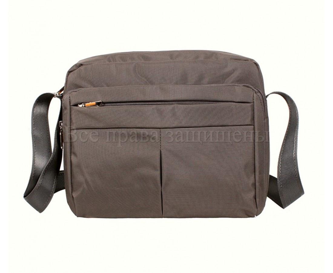 Мужская сумка через плечо ткань серый (Формат: А4 и больше) NAVI 8310B GREY (A4)