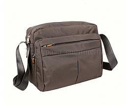 Мужская сумка через плечо ткань серый (Формат: А4 и больше) NAVI 8310B GREY (A4), фото 2