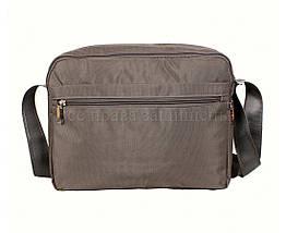 Мужская сумка через плечо ткань серый (Формат: А4 и больше) NAVI 8310B GREY (A4), фото 3