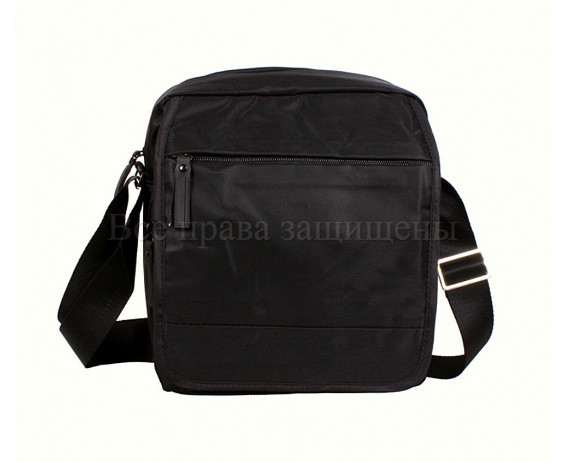 Мужская сумка через плечо ткань черный (Формат: больше А5) NAVI 231-3 BLACK