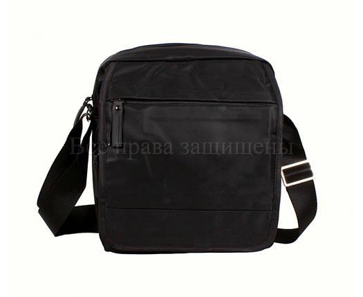 Мужская сумка через плечо ткань черный (Формат: больше А5) NAVI 231-3 BLACK, фото 2