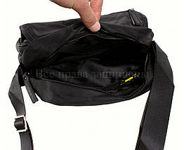 Мужская сумка через плечо ткань черный (Формат: больше А5) NAVI 231-3 BLACK, фото 3