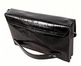 Кожаный клатч мужской черный NAVI 004-1 black, фото 3