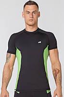 Компрессионная спортивная футболка Radical Fury Duo SS (original), мужской рашгард с коротким рукавом