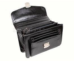 Мужская сумка искусственная кожа черный NAVI кт2493, фото 3