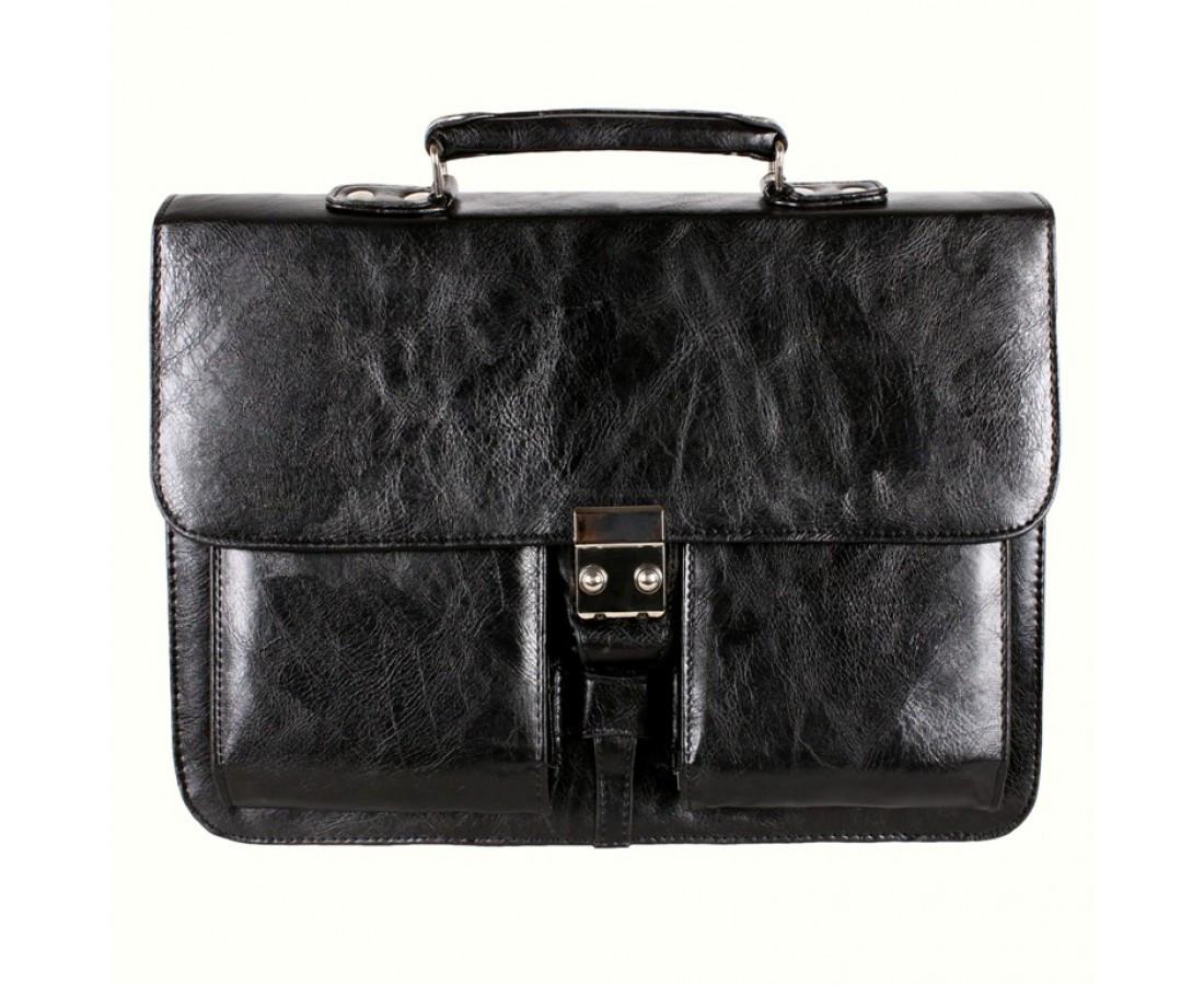 Мужской портфель искусственная кожа черный (Формат: А4 и больше) NAVI кт2974